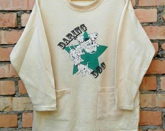 Rare!!! 101 Dalmation Daring Dog Pullover Sweatshirt