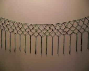 Shades of green Macrame wall or window hanging