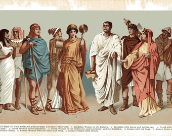 1904 COSTUMES of the The Romans and Other Ancient People Book Print Illustration