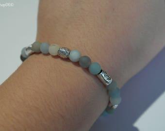 Pearl bracelet made of precious stones (hippie, Boho)
