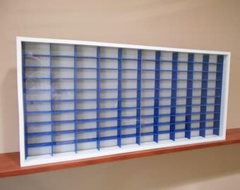 Display case cabinet for 1/64 diecast scale cars (hot wheels, matchbox) - 100NWB-1