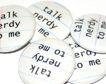 Talk Nerdy to Me - PIN PACK - Set of 5