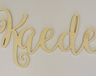 Personalized Name, Connected Name, Connected Letters, Wall Decor, Unpainted Name, Room Decor, Wall Hanging