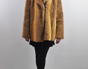 Vintage Amber Faux Fur Jacket