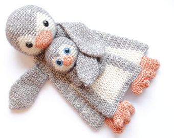 Duo Deal: Penguin Ragdoll and Baby Penguin mini Ragdoll crochet amigurumi pattern PDF INSTANT DOWNLOAD