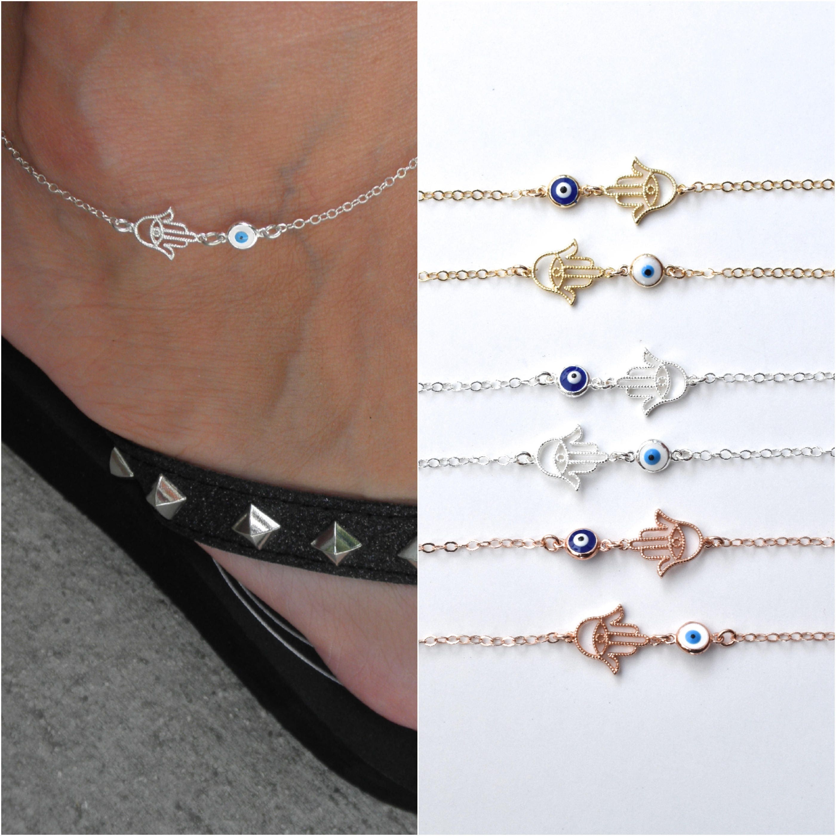 chain k necklace anklet with gold solid rock rose link crystal natural