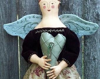 BZ307 - Vintage Folk Angel PDF Cloth Doll Pattern