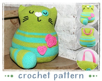 Cat - Doorstop - Crochet Pattern - Amigurumi