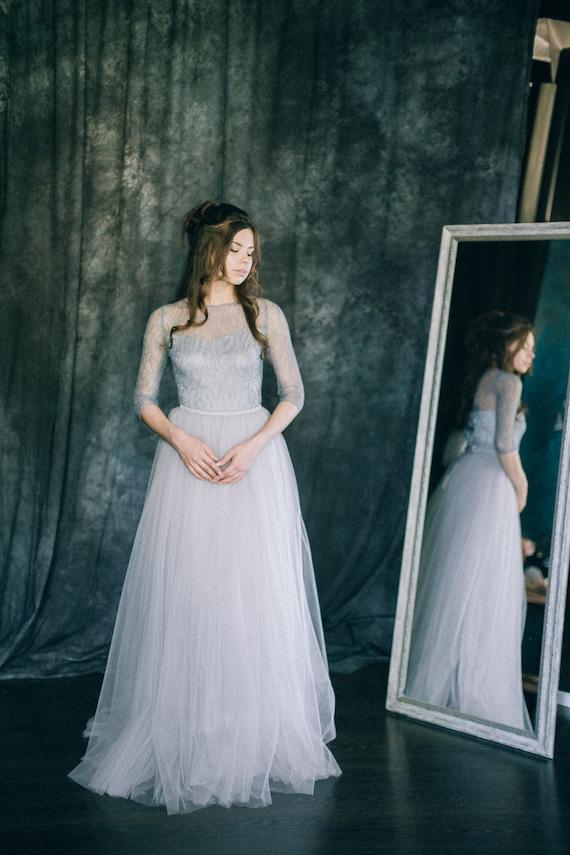 Wedding dress Grey Quartz Light blue grey