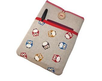 iPad Mini Sleeve with pocket, iPad Mini 4 Case,  iPad Mini Owls, iPad Mini 2 Case, iPad Mini 4 Cover, iPad Mini 4 Sleeve, iPad Mini 2 Cover