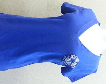 Royal blue Soccer shirt