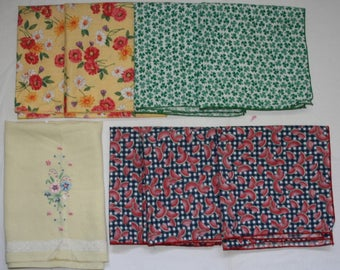 Lot 8 pcs Table Napkins Linen Cotton Watermelon Shamrocks Floral