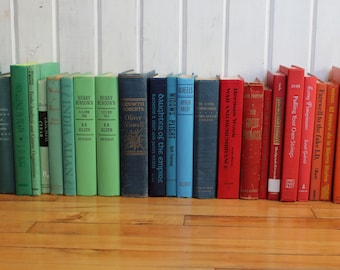 Green to Mint Green Decorative Book sets;half a dozen or 5 per set
