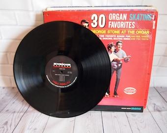 George Stone - 30 Organ Skating Favorites Vinyl Record (1966)