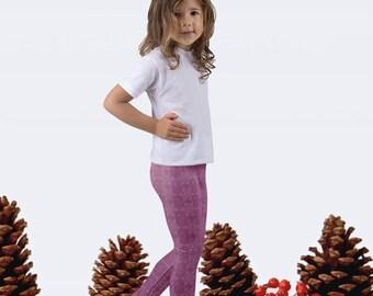 Pink Snowflake Girls' Leggings