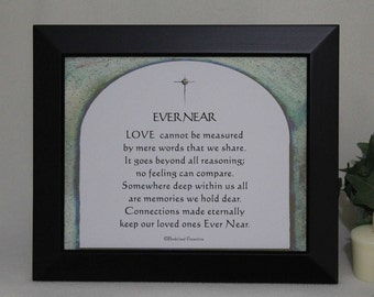 Christian Verse, Sympathy Gift, In Loving Memory, Memorial Gift, Loss of a Loved One, Condolence Gift, Remembrance, In Memory, 8x10 original