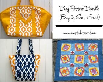 Bag PDF Sewing Pattern Bundle (Buy 2, Get 1 FREE!)