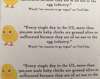 Egg Industry Vegan Activist Stickers (30 stickers)