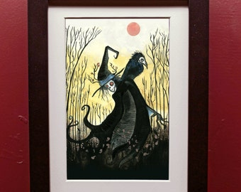 Fall Witch Art Print