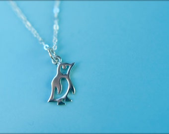 Little Penguin Necklace in Sterling Silver