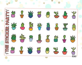 Plants and Succulents Planner Stickers
