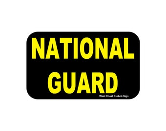 3x5 Magnet, National Guard