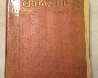 Pollyanna Grows Up antique book old paper 1915 Eleanor Porter AS IS vintage words on pages