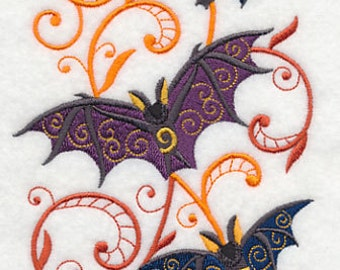 Boo-tiful Bat Potpourri Embroidered Flour Sack Hand/Dish Towel