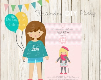 Personalized Teenager Birthday Party. Teenager Birthday invitation. DIY Printable.