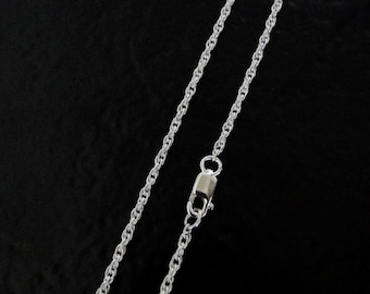 24 Inch - Sterling Silver 1.6mm Rope Chain Necklace