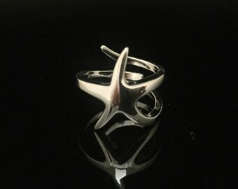 Silver Starfish Ring // 925 Sterling Silver // Hand Cast // Sea Star Ring