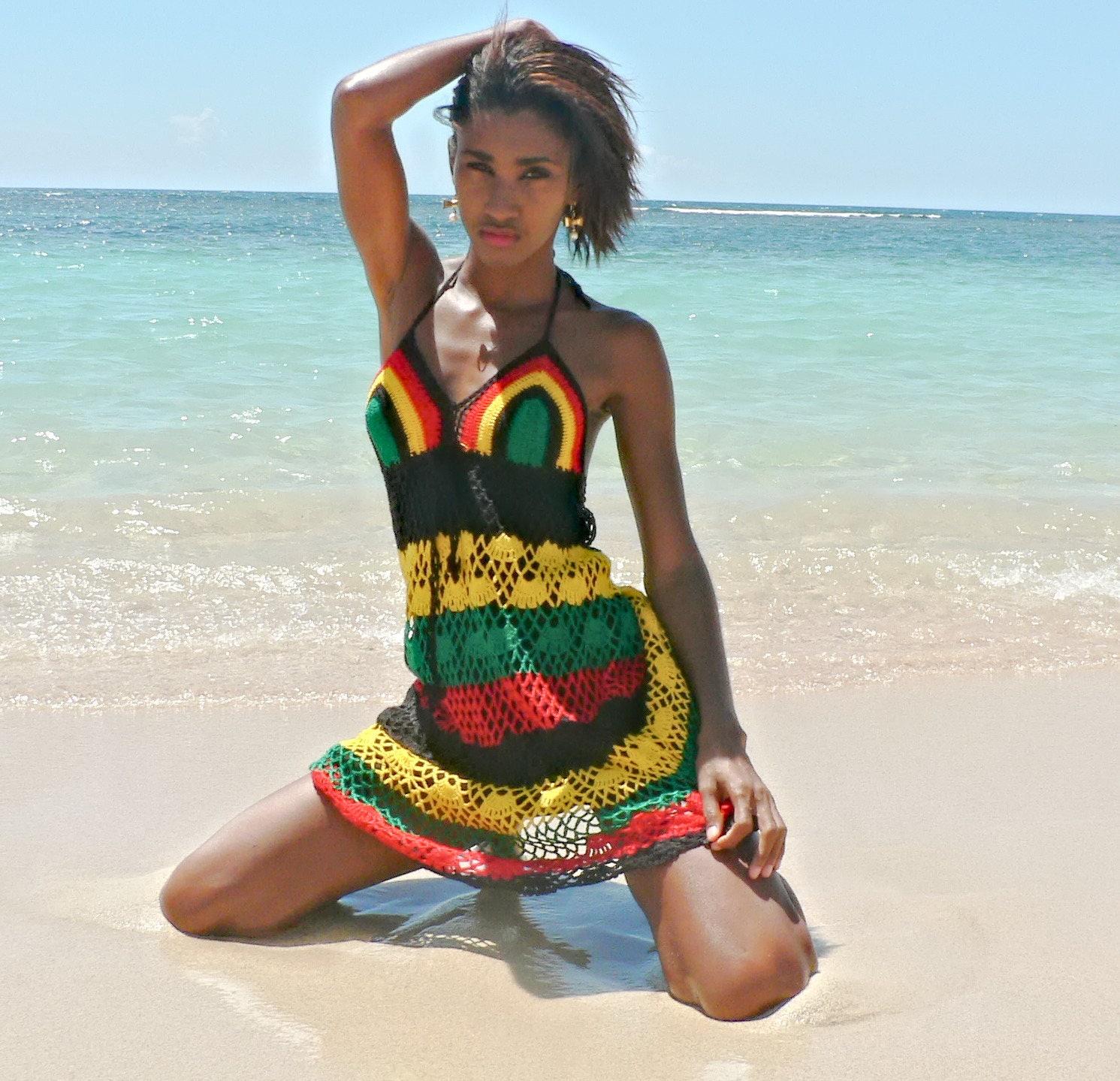 Handarbeit Häkeln Kleid 01 Jamaika.