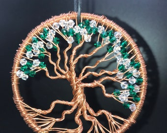 3 inch / Copper wire / Tree of Life /  Handmade / One of a Kind / Original Sculpture / Unique gift