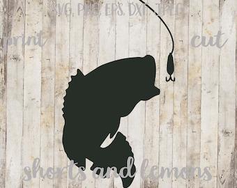Bass and Lure svg, Fishing svg, bass svg, mens svg, Bass Fish SVG, iron on, Boys Fishing shirt, Rustic svg, svg, png, jpeg, vector, cut file