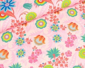 Cotton Jersey flora flower magic on pink (13.20 EUR / meter)