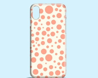 Polka Dots phone case / Pastel iPhone X case / iPhone 8 / iPhone 7 / iPhone 7 Plus / iPhone 6S / Samsung Galaxy S6 / iPhone se
