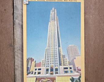 Rockefeller Center New York Vintage Postcard 1954