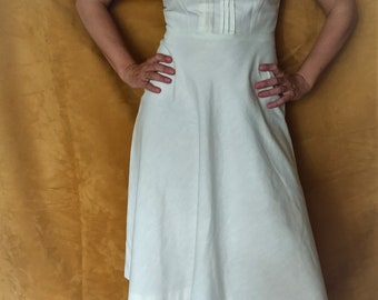 French linen dress A-line