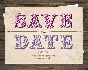 Ornamental Personalised Save the Date