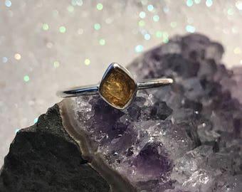 Orange Tourmaline Ring