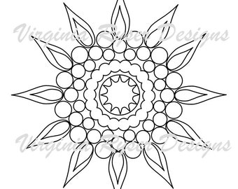 Digital coloring page of sun