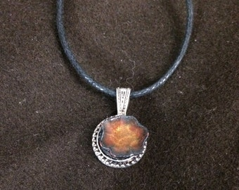 Glass enamel dimensional pendant