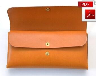 Leather wallet pattern - long wallet
