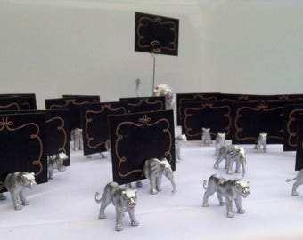 Animal Magnet place card holder and wedding favour bag included with each animal X 50