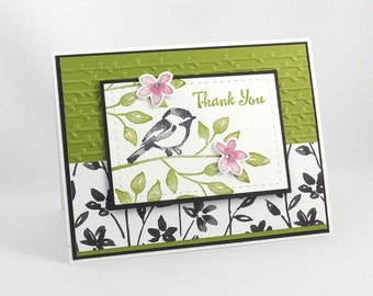 Handmade Thank You Card - Stampin Up - Petal Palette - Thanks for Everything - Special Thanks Card - Gratitude Card - Floral Thank You Card
