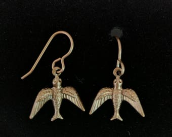 Vintage sparrow earrings #1