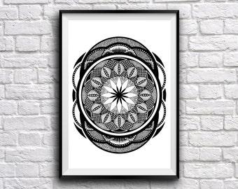 Mandala Universo Poster