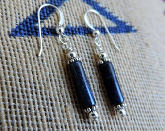 Sodalite n Sterling Silver Beads Earrings - A