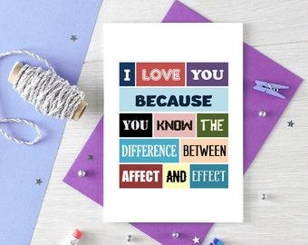 Funny Valentine's Day Card   Anniversary   Wife   Husband   Girlfriend   Boyfriend   Marriage Proposal   Grammar   Humour   Blank   SE0099A6