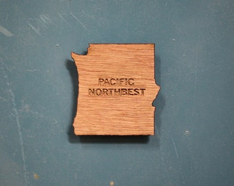 Pacific Northbest wood magnet